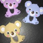 "Beissanhänger ""Koala"" (lila, babyblau, beige)"