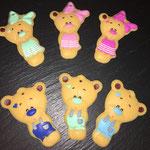 Beissbären (girl:mint, babyrosa, pink // boy: marine, mint, babyblau)