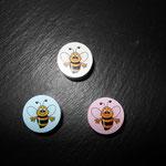 Motivperlen Honigbiene (weiss, rosa, babyblau)