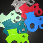 Beisstraktor (mint, türkis, apfel, silber, rot, skyblau)