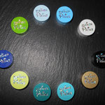 """Motivperle """"kleiner Prinz"""" (grün, hellblau, blau, weiss, schwarz, gold, türkis, petrol, lemon, dunkelblau -- mint, braun nicht auf dem Bild)"""