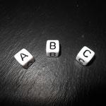 Kunststoffbuchstaben, weiss (10mm)
