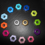 Lochblumen (lemon, grün, violett, rosa, babyrosa, flieder, dunkelpink, orange, babyblau, skyblau, türkis, dunkelblau)