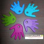 Beisshände (skyblau, türkis, lila, pink, apfel)