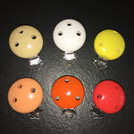 Clips uni (nature, weiss, gelb, lachs, orange, rot)