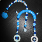 Kinderwagenspielzeug mit Name und 1Clip