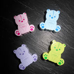 Motivperle Teddy (rosa, blau, lemon, flieder)