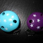 Motivclips Stars (türkis/weiss, violett/weiss nicht mehr an Lager)