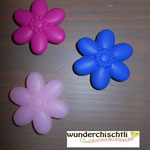 """Blume"" (blau, pastellrosa, pink)"