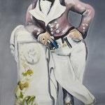 Der Geck 2011 (Meissen) 110 x 140 cm Öl/Leinwand