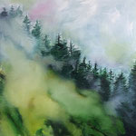 Nebel Stück I 2018 100 x 100 cm Öl/Leinwand