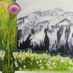 Das Grün I 2018 100 x 100 cm Öl/Leinwand