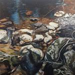 Bach Stück II 2018 100 x 100 cm Öl/Leinwand