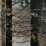 Wald Stück II 2018 80 x 80 cm Öl/Leinwand