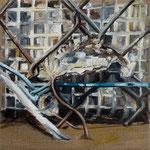 Zaun Stück II 2019 40 x 40 cm Öl/Leinwand