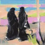 Die Frauen II 2018 50 x 50 cm Öl/Leinwand