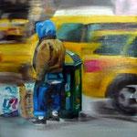 New York Man IV  50 x 50 cm Öl/Leinwand
