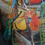 Strandgut 9 2010 150 x 150 cm Öl/Leinwand