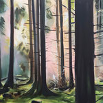 Waldblick I 2018 100 x 80 cm Öl/Leinwand