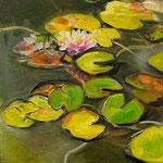Water lilies I 2019 30 x 40 cm Öl/Leinwand
