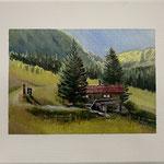 Urlaubsgrüße IV 2019 30 x 24 cm Acryl/Öl/Leinwand