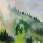 Nebel Stück II 2018 100 x 100 cm Öl/Leinwand