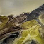 """""""Gleich einer grünen Welle aus dem Tal"""" 60 x 60 cm Öl/Leinwand"""