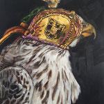 Falke  2015  80 x 100 cm   Öl/Leinwand