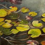 Water lilies II 2019 30 x 40 cm Öl/Leinwand