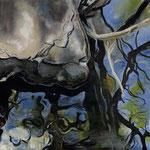 Im Bach III 2020 60 x 60 cm Öl/Leinwand