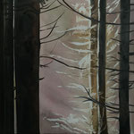 Wald Stück I 2018 80 x 80 cm Öl/Leinwand