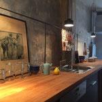 Küchenzeile mit Eichenplatte
