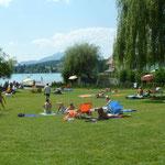 Der Badeplatz am See