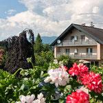 Unser Haus vom Balkon der Nachbarin aus fotografiert