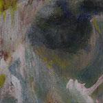 Portrait G. | 2008/09, Eitempera, Tusche/Leinwand, 31,5 x 31,5 cm