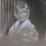 Knabenbildnis (selbst) | 2008/9, Eitempera, Tusche, Kohle auf Leinwand
