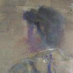 Portrait G. | 2008/09, Eitempera, Tusche/Leinwand, 39 x 39 cm
