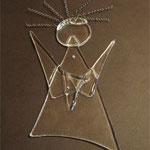 Glasengel mit Dauerwellen