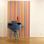 Städtische Galerie Traunstein • 2008 • Stahl, Farbe, Ventilator, Tapete