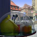 """""""Weltenräume"""" • Globus 8 • Plexiglas, Seifenguss, Kunststoff, Türspion"""