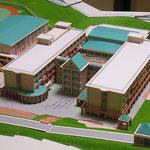 S=1/250 学園外観模型 (地形製作:アルテパパス)