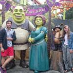 Shrek, Fiona, Kater und Esel