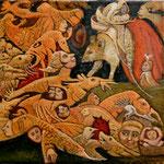 BYSS Huile sur toile 30 x 30 cm