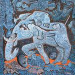 PALLIACQ Huile sur toile 30 x30 cm