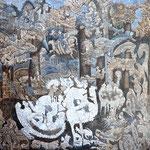 EPIMETHEE Huile sur toile 100x100 cm
