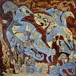 KERBEROS Huile sur toile 60 x60 cm
