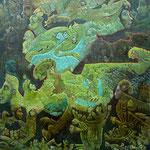 EURYDOME Huile sur toile 80 x80 cm