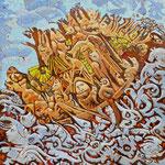 TRINCULO Huile sur toile 30x30 cm