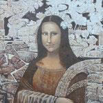 Mona Lisa et ses fantasmes  30x30 cm