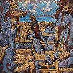 EUKELADE Huile sur toile 30 x30 cm